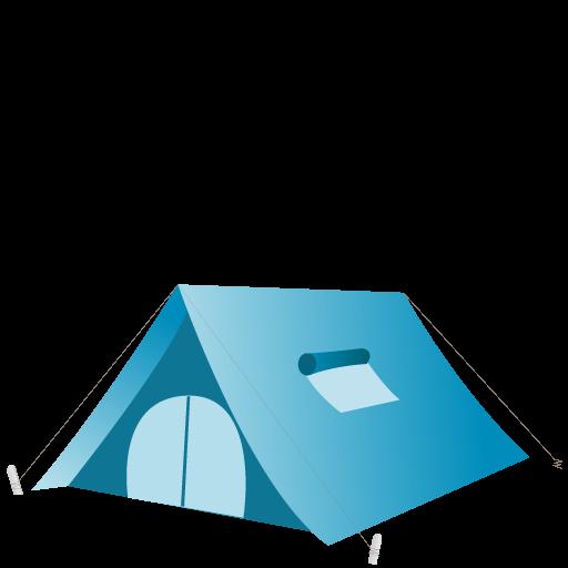 Logo dell'attrezzatura da campeggio