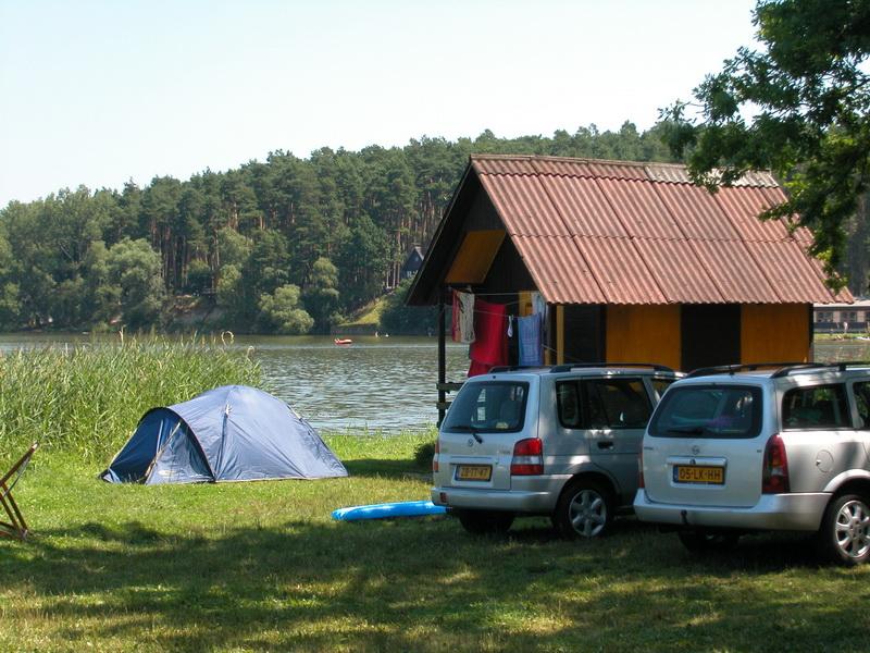 Stanny v kempu Bezdrev, tábořiště Jižní Čechy