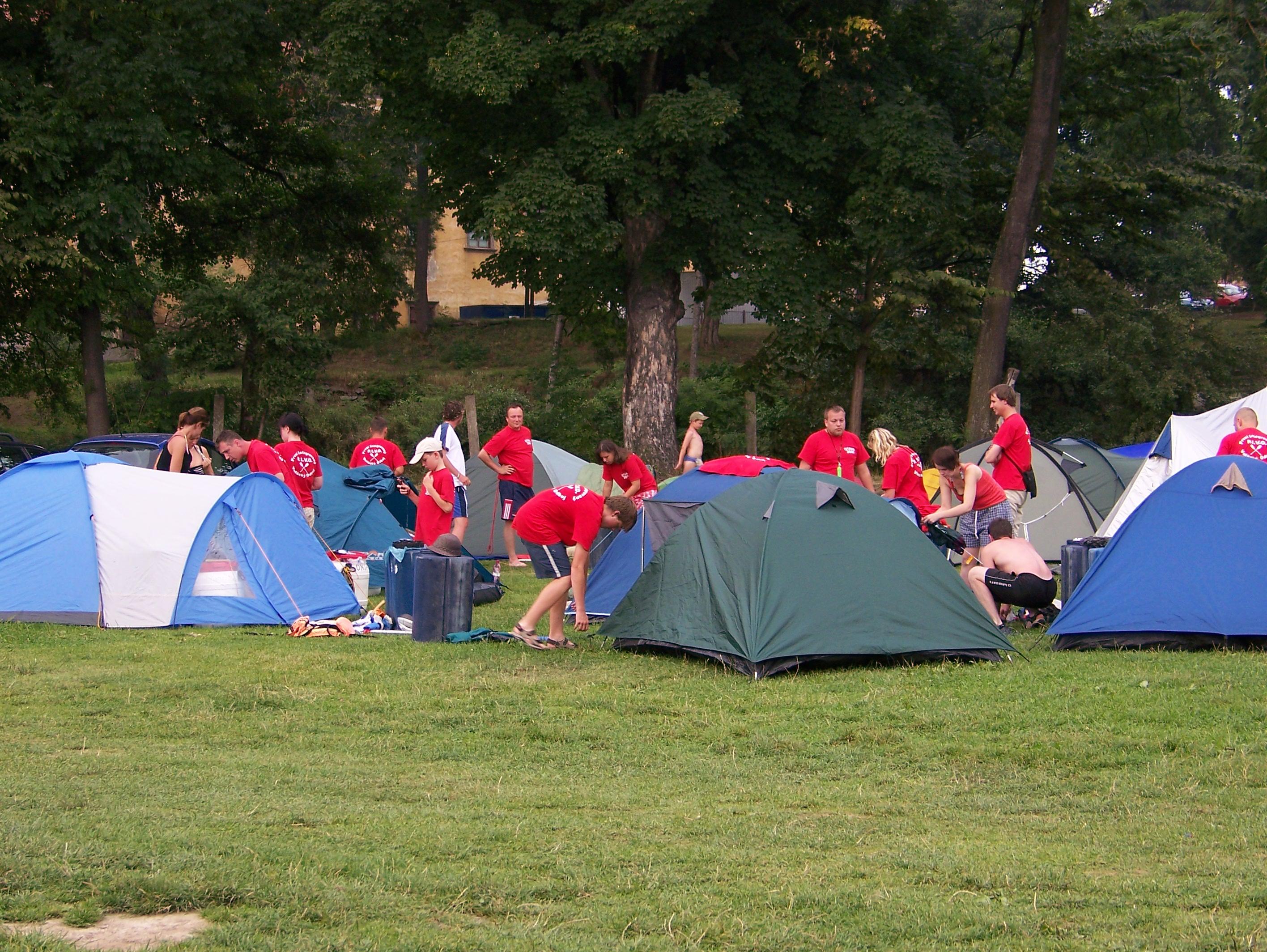 テントと南ボヘミアの安いキャンプ