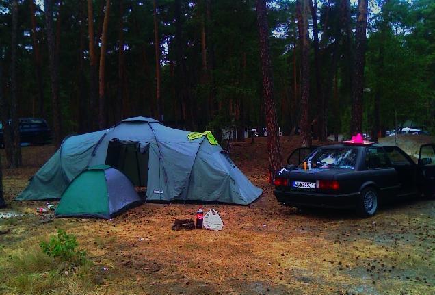 Máchovojezero、テントのための場所、キャンプチェコスロバキア