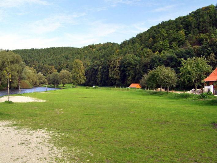 vodácky kemping v Jižních Čechách