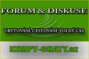 Diskuze, fórum - kempy,chaty, penziony ubytování