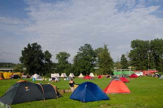 A list of camps, tents for where to stand