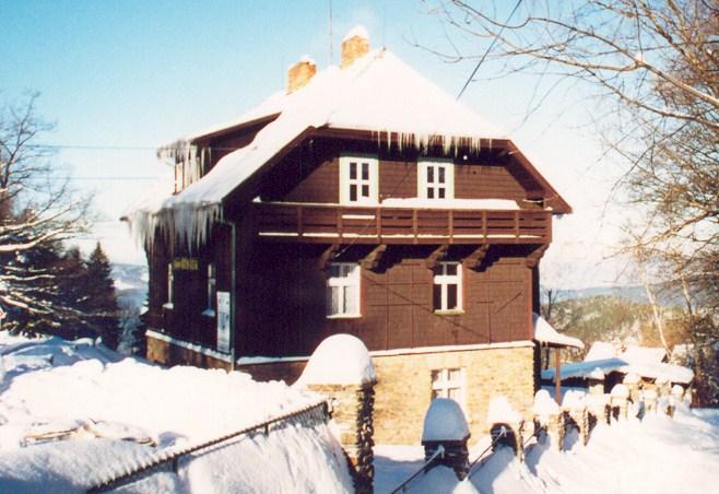 chata Šumava v zimě