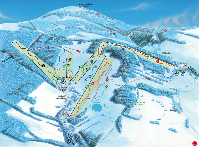 Ski areál Stříbrnice