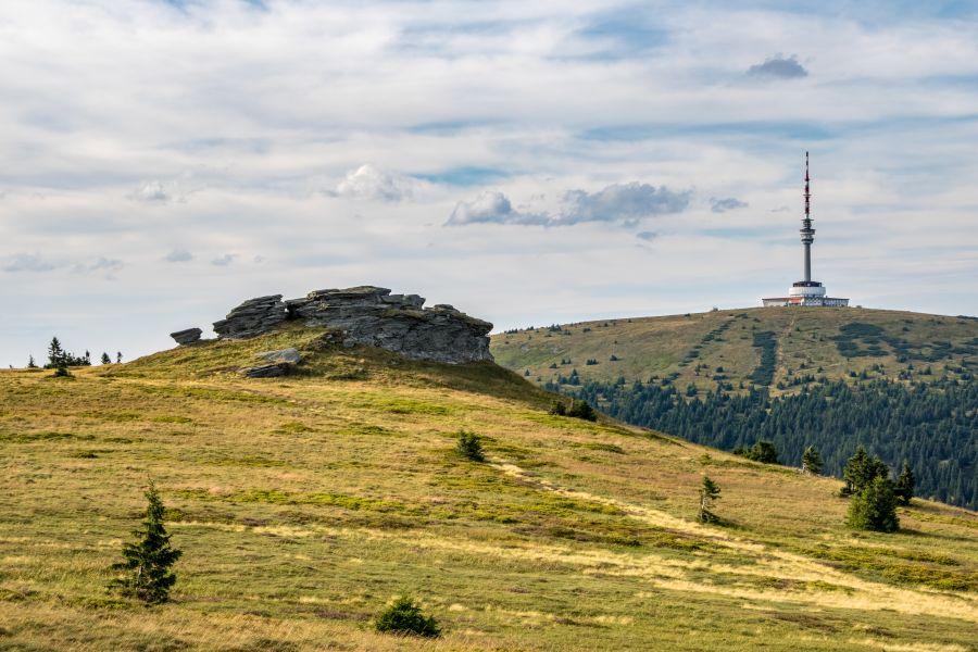 Okolice chaty - Hora Praděd i Jeseníky
