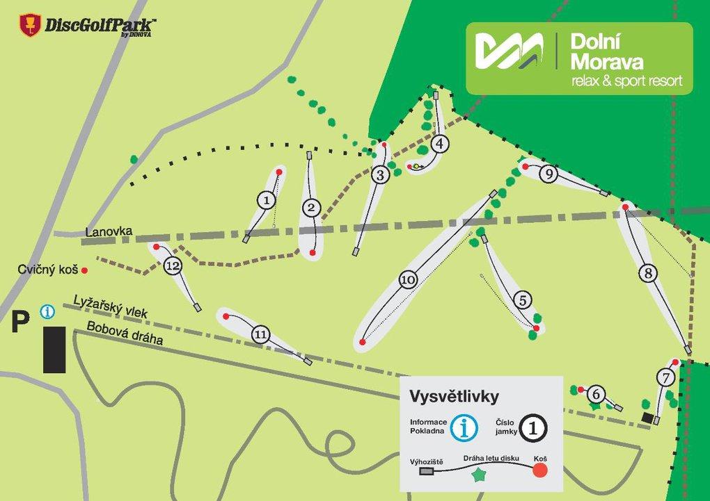 Plan, mapa Dosc Golf Park Dolni Morava