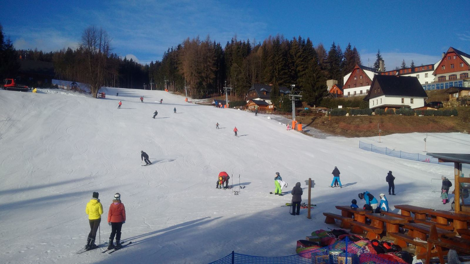 Skiing in Malá Morávka, Karlov pod Pradědem