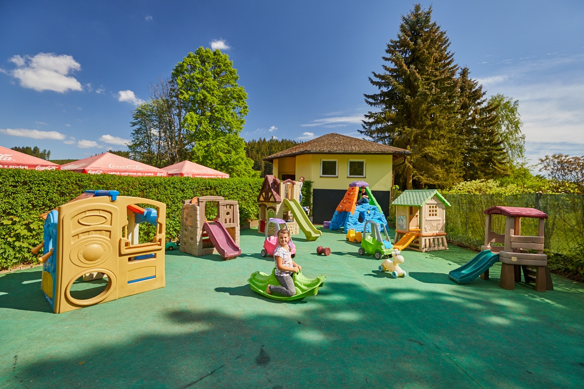 Playground for children at Dolce Camping