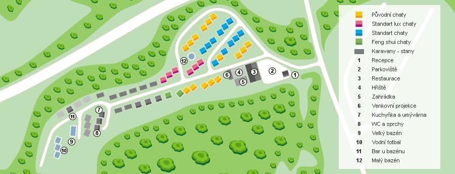 Mapa kempu Resort Dešná