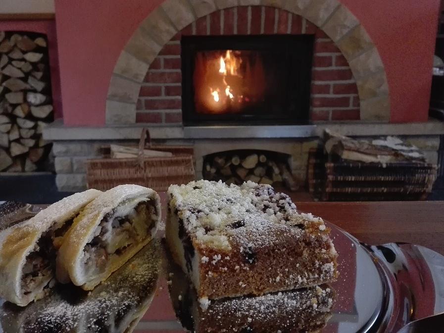 Pochoutky u krbu - restaurant dans la maison d'hôtes Janske Lazne