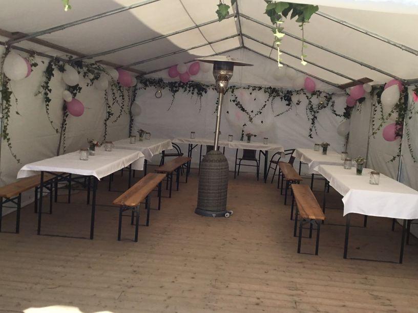 Hochzeitspavillon im Gästehaus, Cervena Lhota, Südböhmen