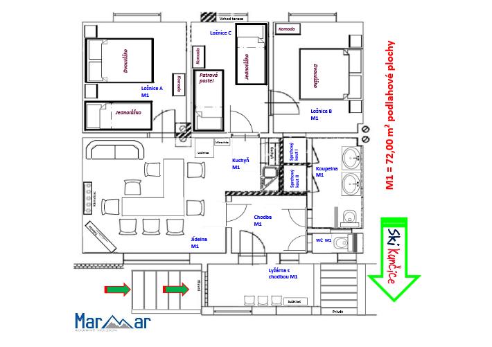 アパートM1のプラン