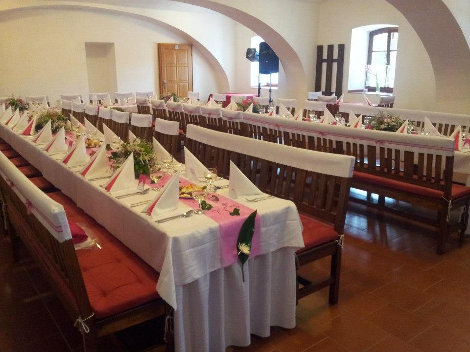 wedding reception Penzion U Farmáře