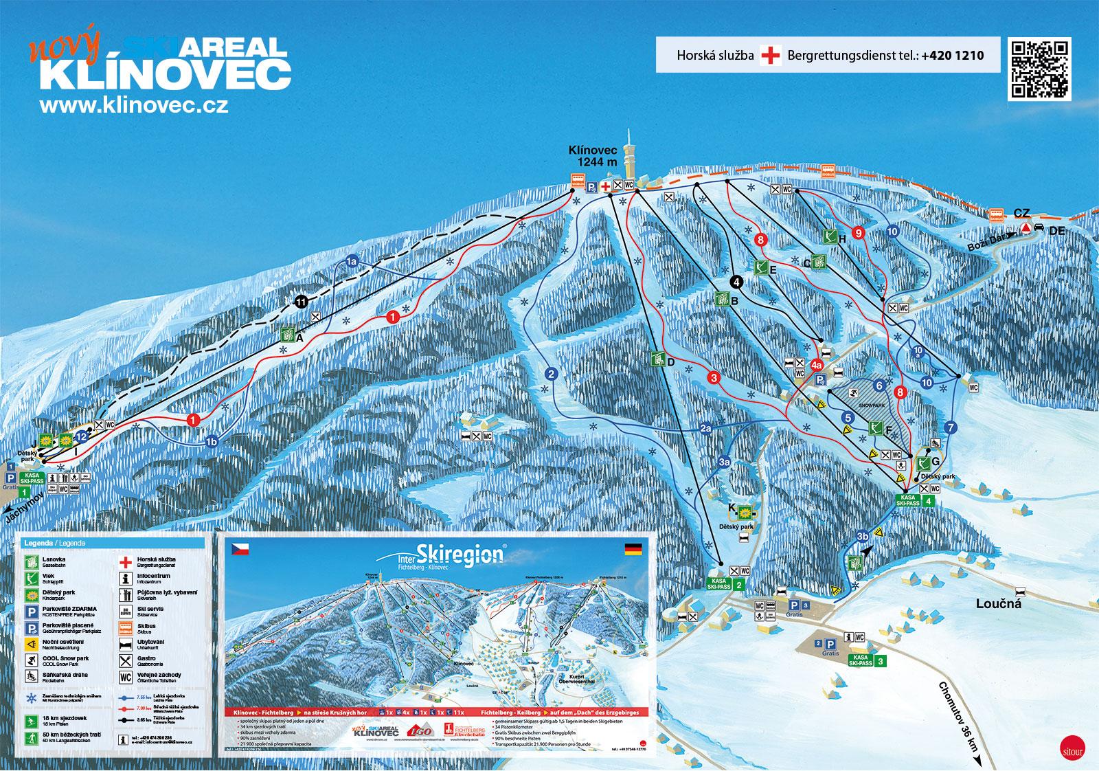 Nový lyžařský areál Klínovec, lyžování Loučná pod Klínovcem, Ústecko