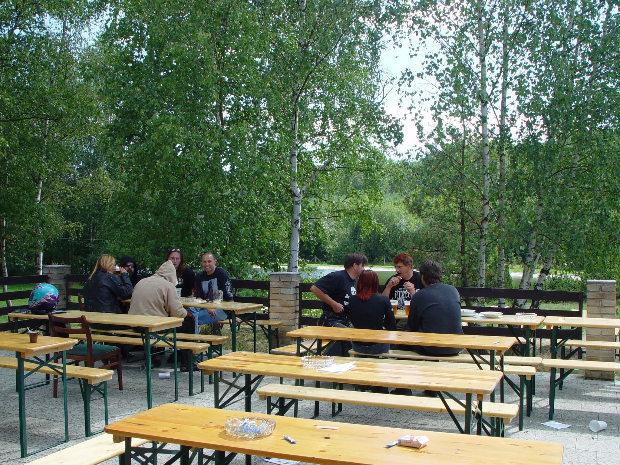 Terasa v restauraci kemp Žichovec