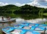 Osada domków Bítov - łodzie, rowery wodne