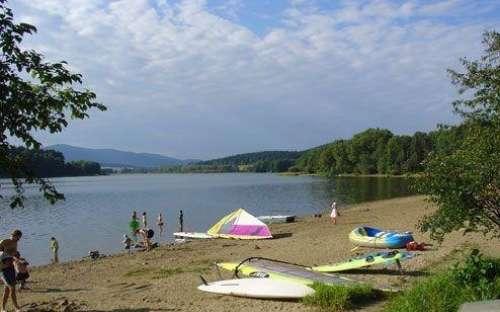 Camping Olšina Lipno - strand
