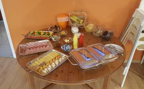 Chata Ťapka - snídaně