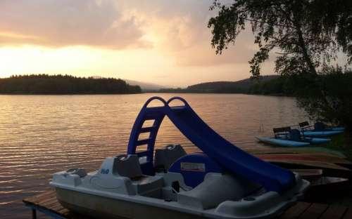 Camping Olšina Lipno - Verhuur van waterfietsen