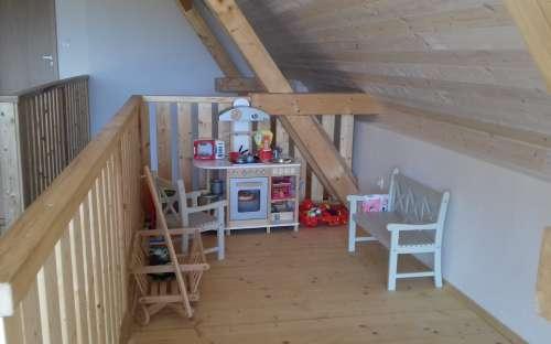 Dětská Kuchyňka v 1. patře stodoly