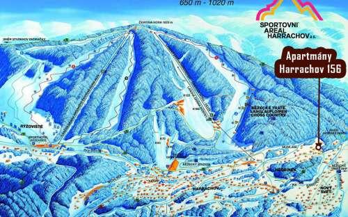Kort Skisportssted Harrachov