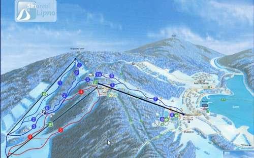 Skiareál lyžování ubytování Apartmán Lipno