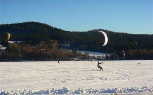 Moderní sporty na zamrzlém Lipně