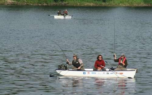 Rybaření na přehradě Lipno