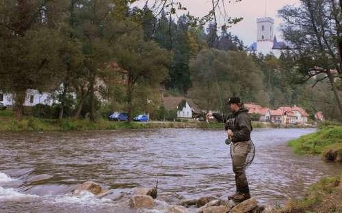 Rybaření na Vltavě Rožmberk