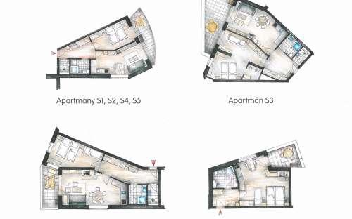 間取り図 -  Parasolのアパート