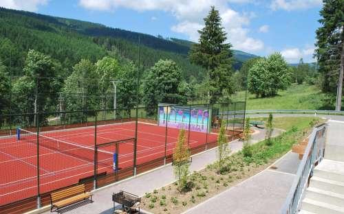 Sportovní hřiště u penzionu