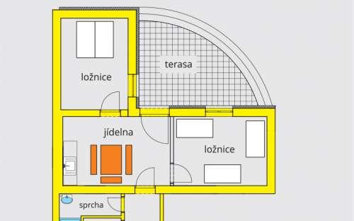 Apartmán AA2 s terasou