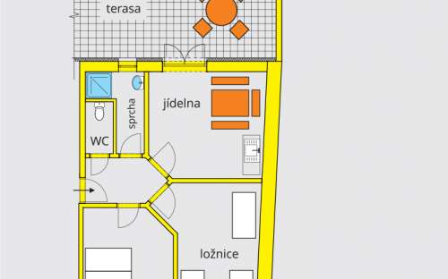 Apartament A3 z tarasem