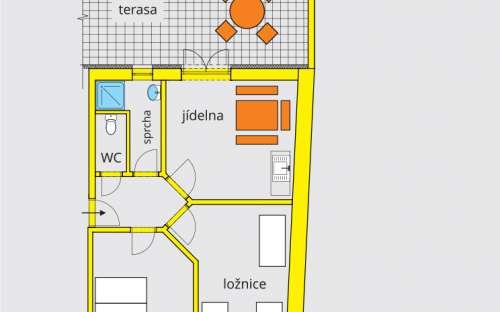 Apartmán A3 s terasou