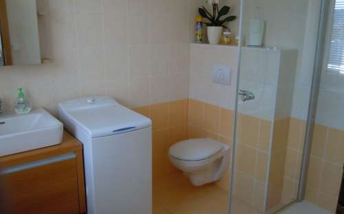 Maple apartment with infasaauna 2-8 (max. 10) persons - toilet and shower in the apartment