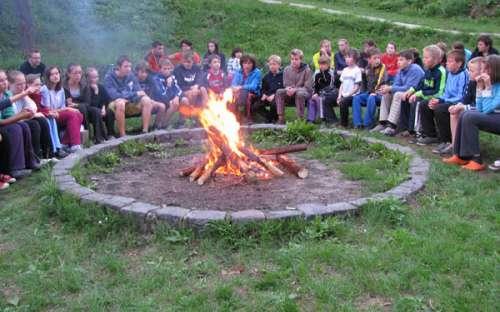 Areál a kemp Vyhlídka - u ohně