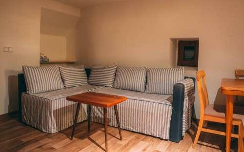 Obývací pokoj v apartmánu