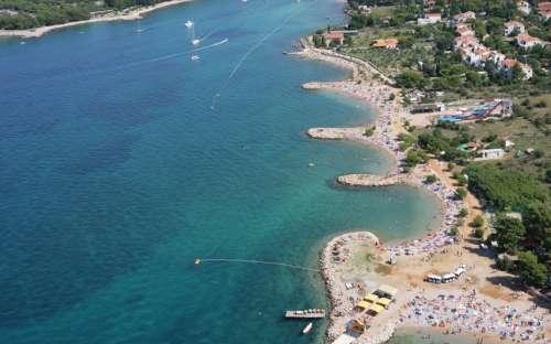 Letecký pohled - Ostrov Krk