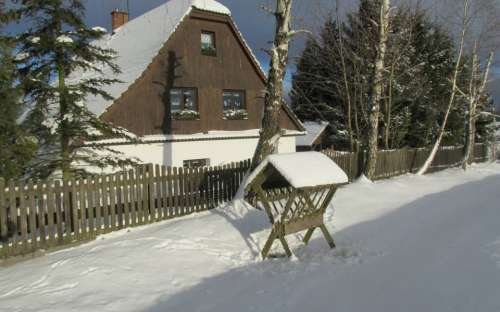 Cottage in de winter