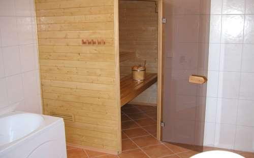 Chalupa Dolní Morava – část A – západ: Sauna