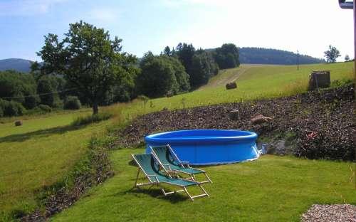 Chalupa Dolní Morava – část A – západ: Bazén