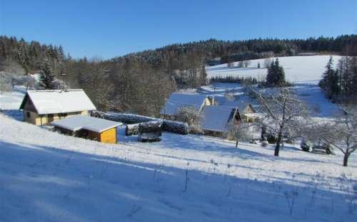 Zimní rekreace chata v Orlických horách