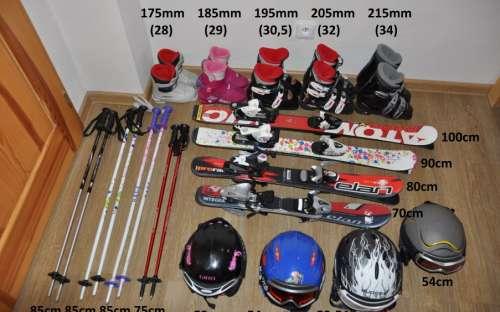 Sprzęt narciarski do bezpłatnego wypożyczenia