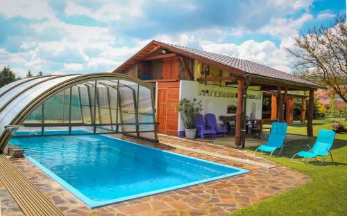 Vacationing a cottage with a swimming pool