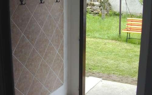 Indgang til hytten