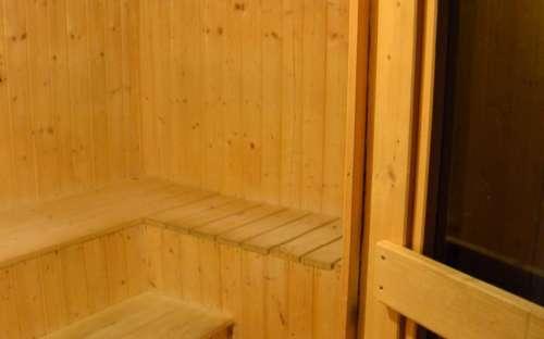 Finská sauna v provozu