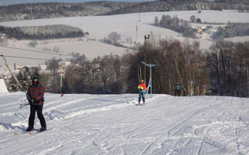 ski slope 100 m from the cottage