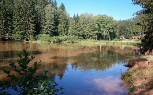 rybník u chalupy