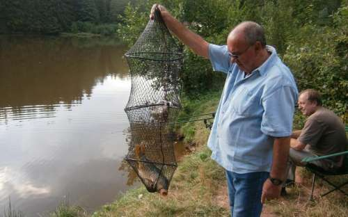 rybaření u chalupy Pavel
